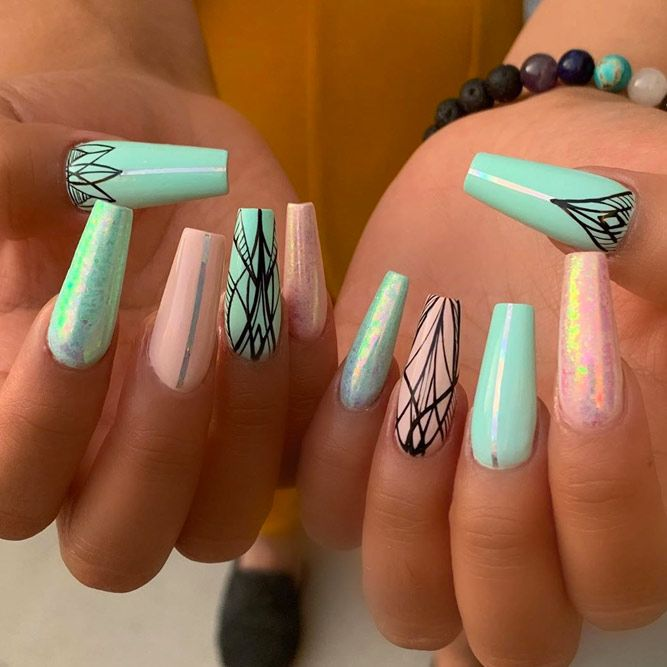 Sweet Tribal Nail Designs