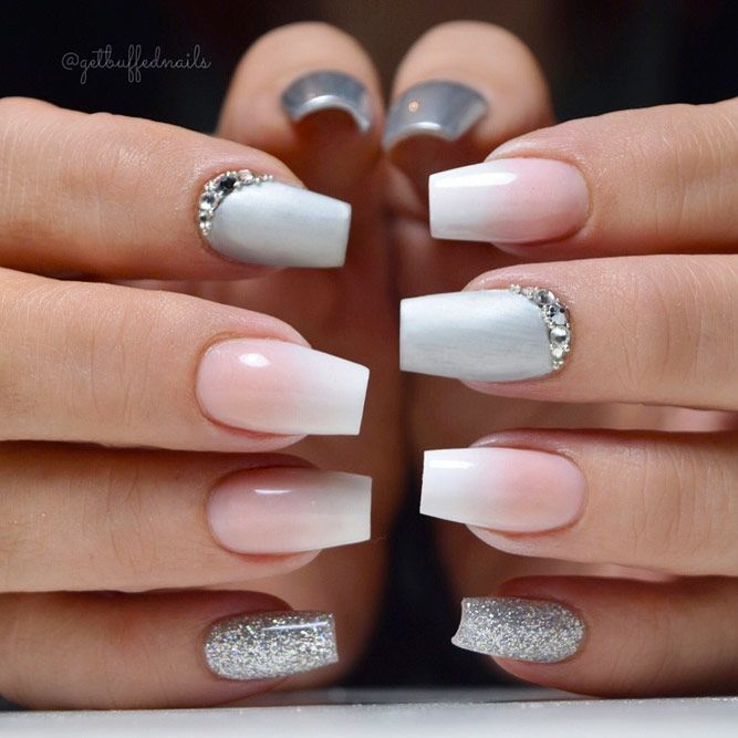 Short Nail Designs With Glitter