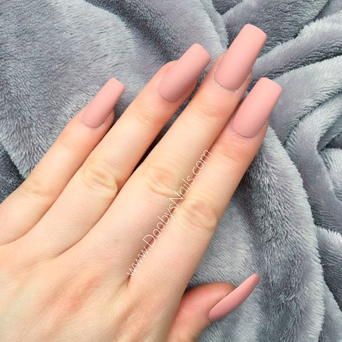 Nice Nude Matte Long Nails picture 3