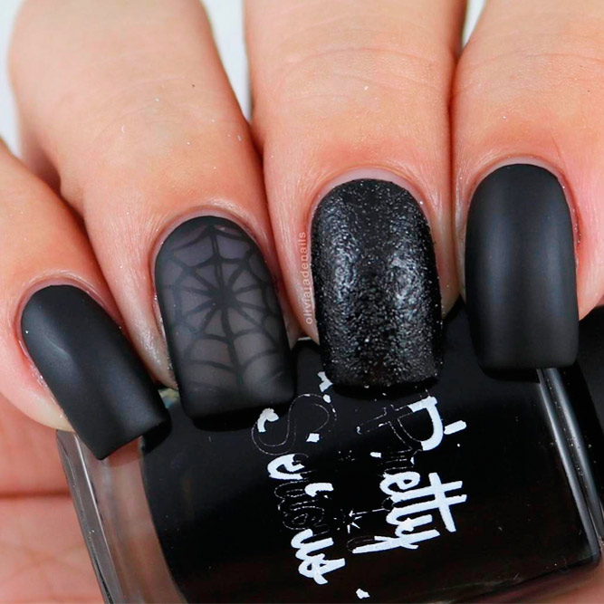 Chic Ideas for Matte Black Manicure picture 2