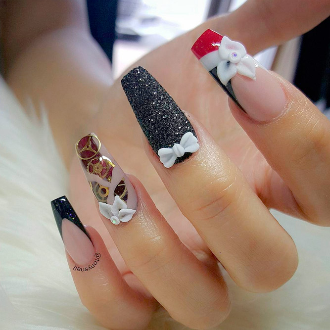 Gorgeous Designs for Long Coffin Nails picture 3