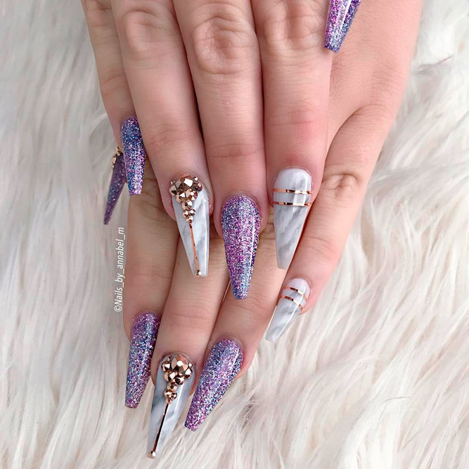 Cute Marble Nail Art Design picture 2