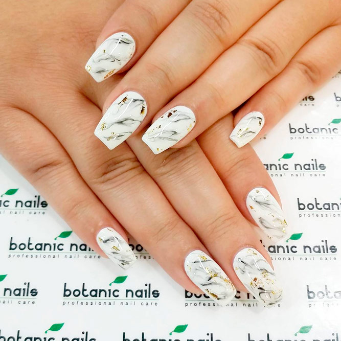 Cute Marble Nail Art Design picture 3