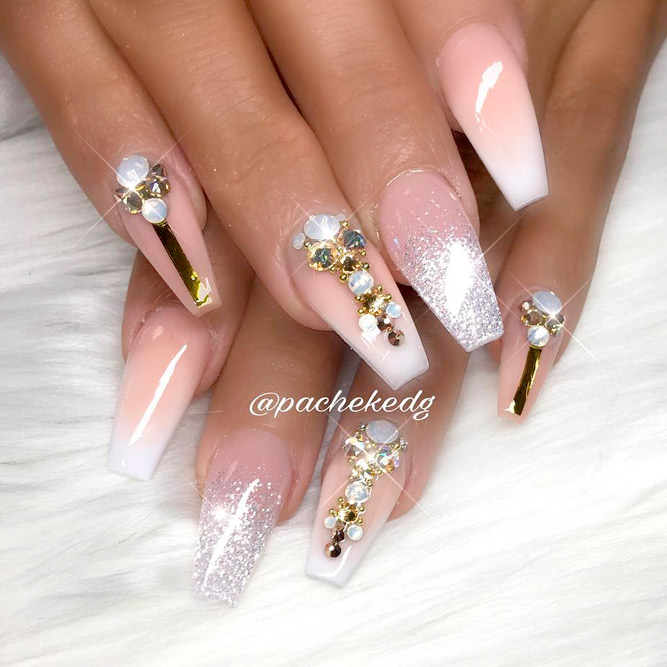 Sparkling Designs for Coffin Nails picture 1