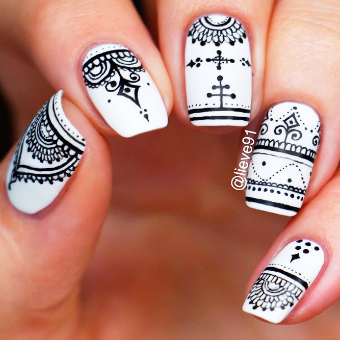 Incredible Black and White Nail Designs picture 1 - Gorgeous Matte Nail Designs NailDesignsJournal.com