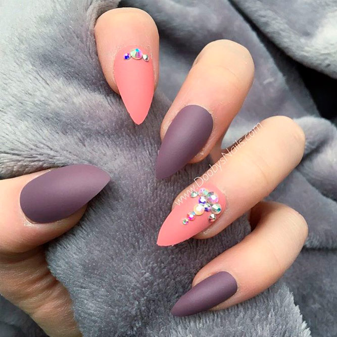 Sophisticated Matte Purple Nails picture 1