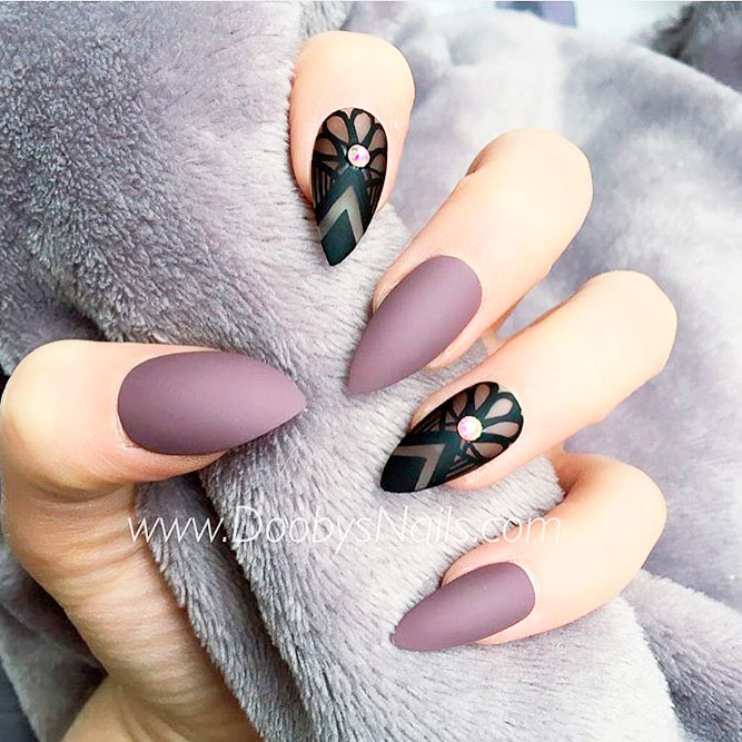 Sophisticated Matte Purple Nails picture 2