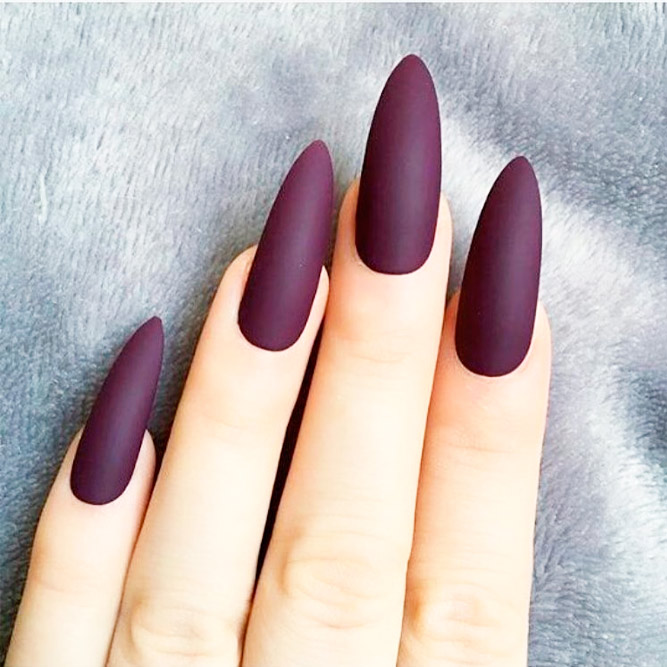 Sophisticated Matte Purple Nails picture 3