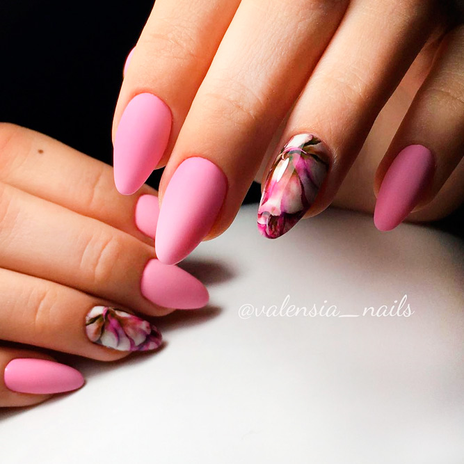 Perfect Matte Pink Nails picture 1