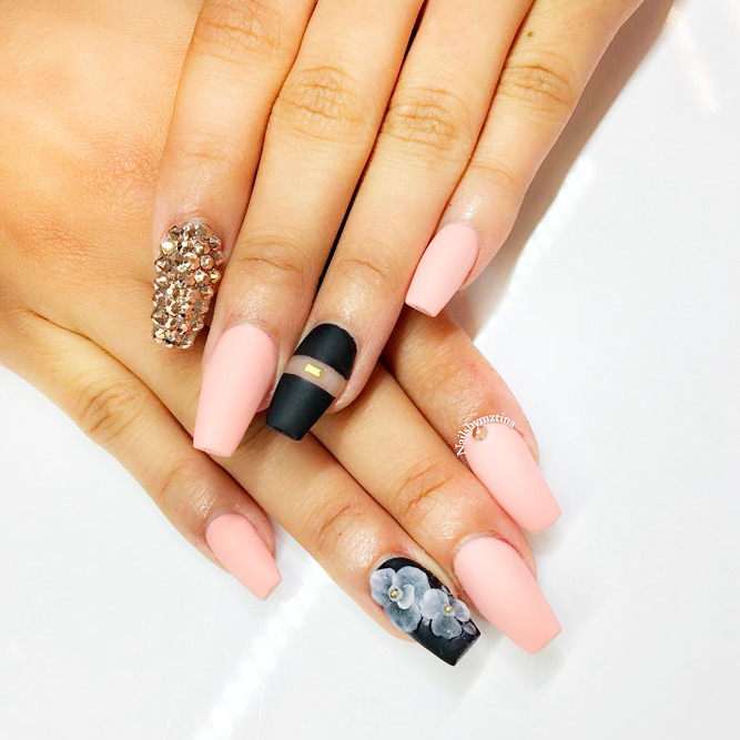 Perfect Matte Pink Nails picture 3