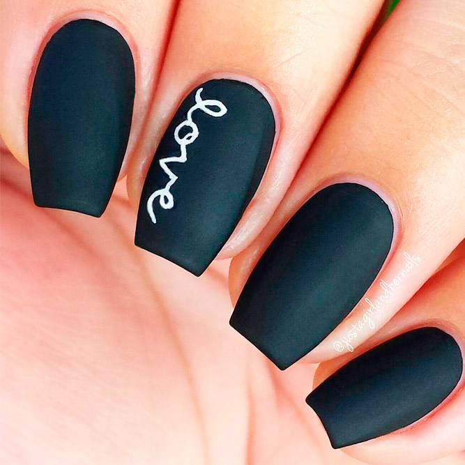 Best Black Matte Nail Polish Colors picture 2 - Gorgeous Matte Nail Designs NailDesignsJournal.com