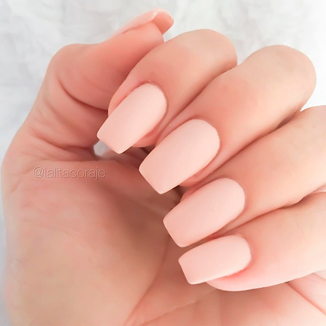 Gorgeous Matte Nude Nail Designs picture 1