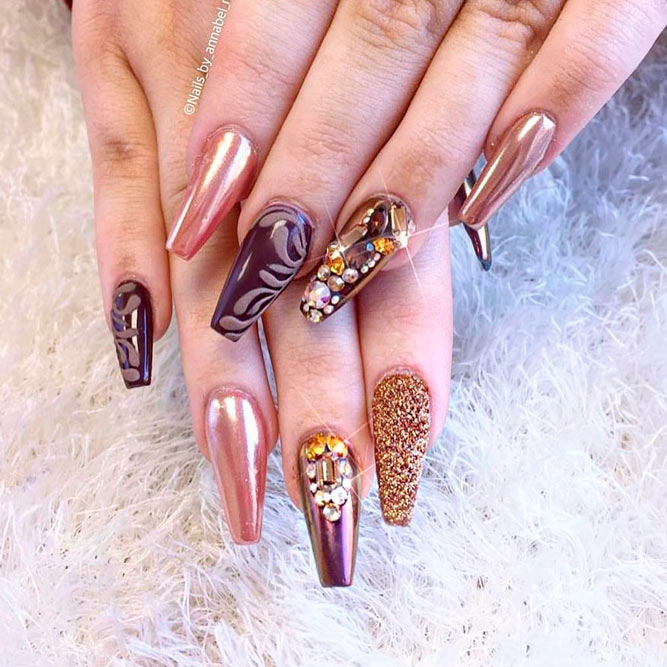 Charming Coffin Nails picture 1