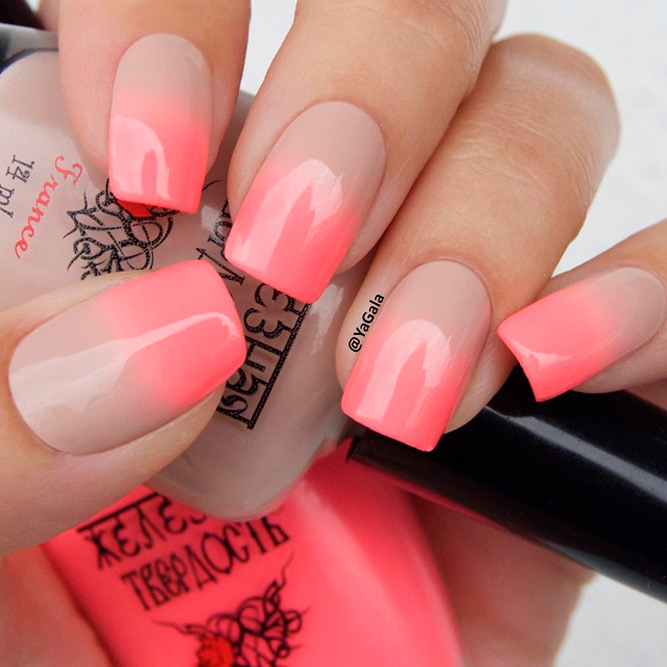 Beautiful Nude Ombre Nails picture 1