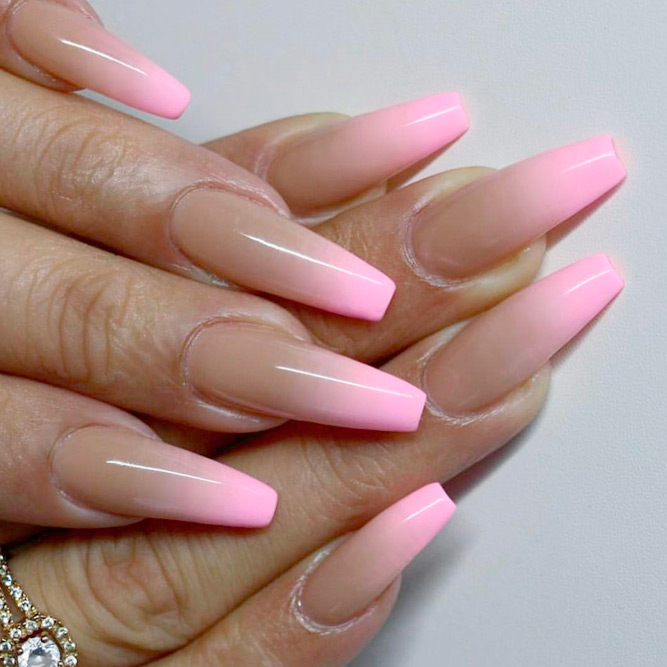 Beautiful Nude Ombre Nails picture 2