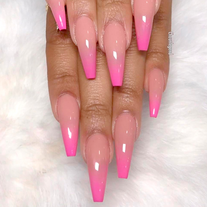 Beautiful Nude Ombre Nails picture 3