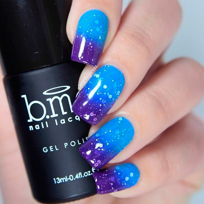 Trendy Blue Shades for Ombre Nails picture 1