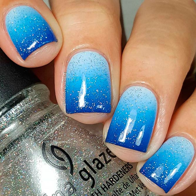 Trendy Blue Shades for Ombre Nails picture 2