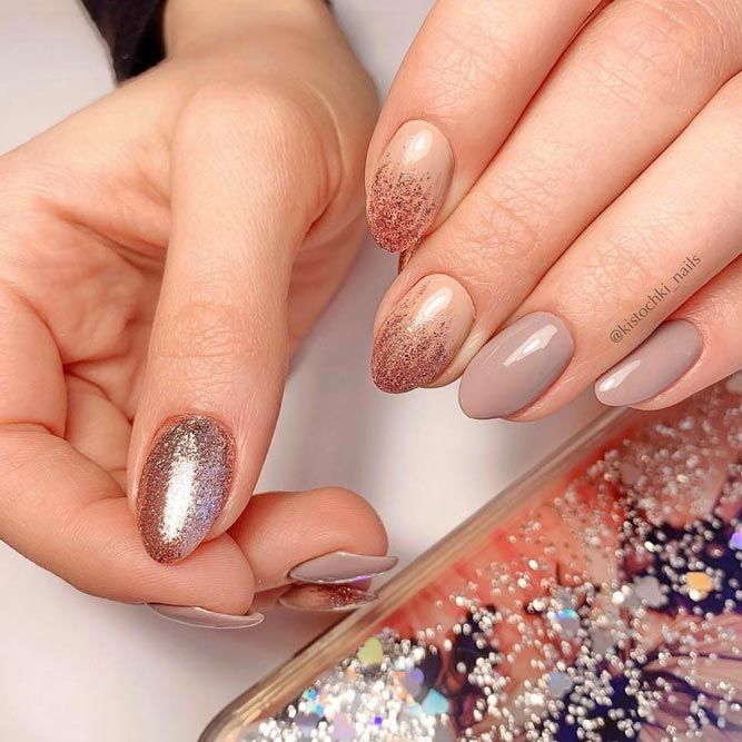 Sparkling Gold Glitter Ombre For Any Occasion