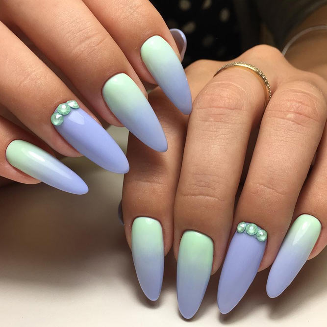 Ombre Nails with Pastel Rainbow picture 2