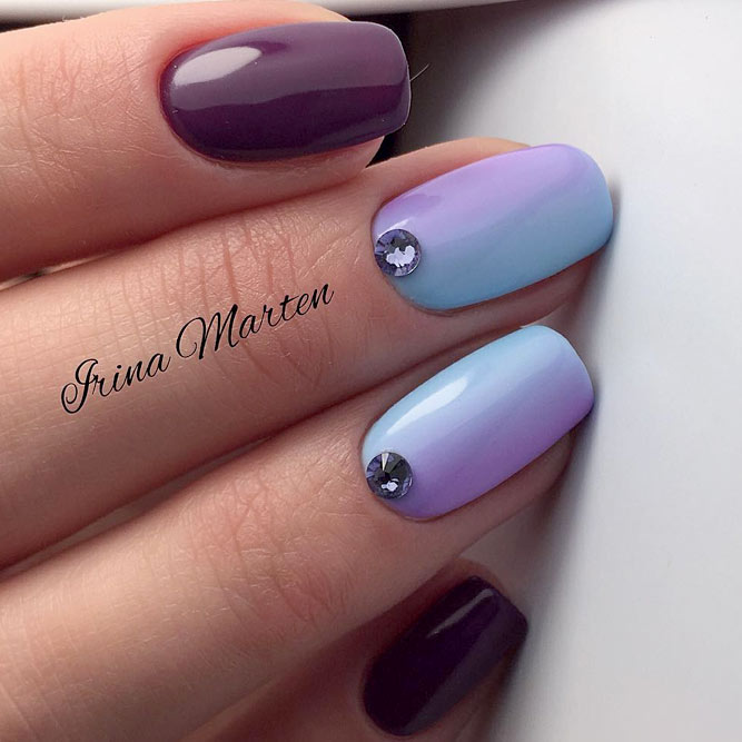 Ombre Nails with Pastel Rainbow picture 1
