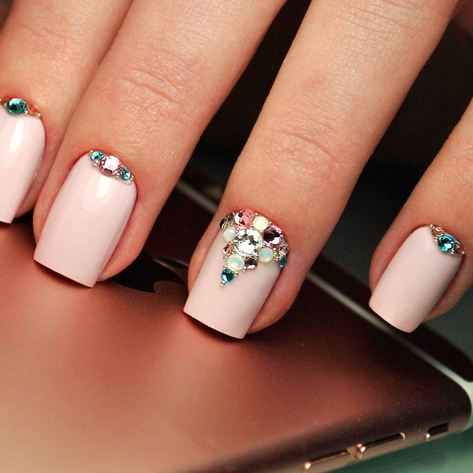 Gorgeous Short Square Nails