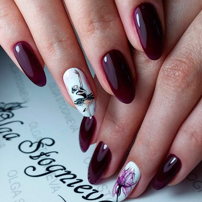 Lovely Nail Art for Almond Nails picture 1