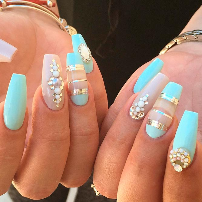 trendy designs for long nails picture 1