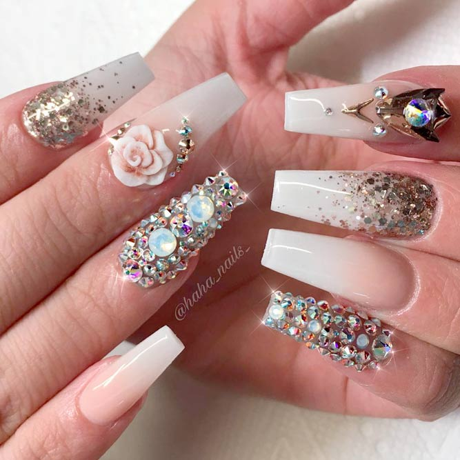 Shiny Designs for Your Nails picture 2 - Brilliant Long Nail Designs To Try NailDesignsJournal.com
