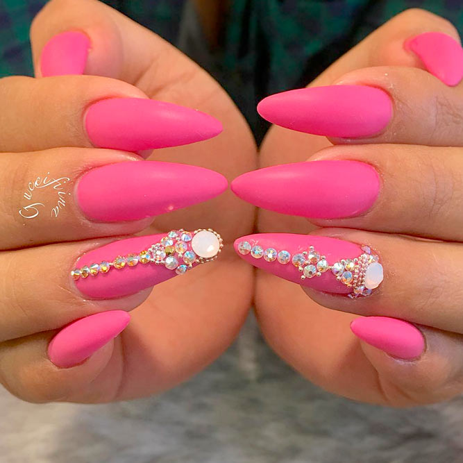 Brilliant long nail designs to try naildesignsjournal rhinestone nail designs best choices picture 1 prinsesfo Image collections