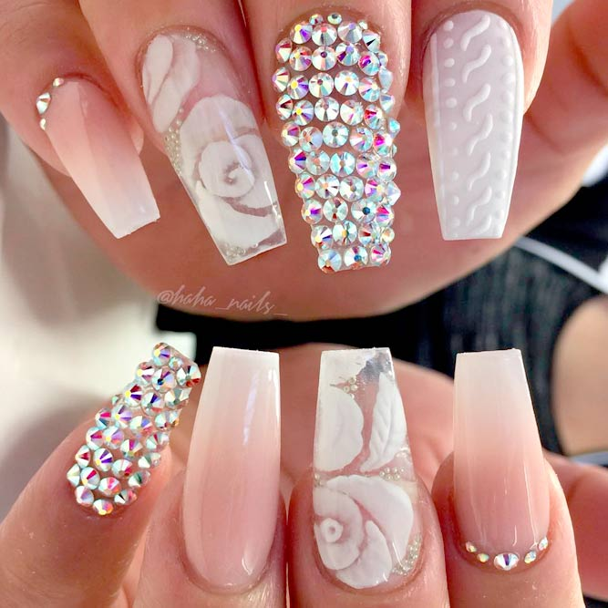 Brilliant long nail designs to try naildesignsjournal rhinestone nail designs best choices picture 3 prinsesfo Images