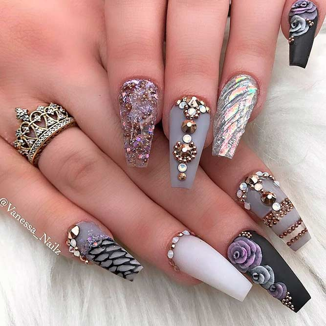 Beautiful Nail Art Ideas You Should Know picture 1 - Brilliant Long Nail Designs To Try NailDesignsJournal.com