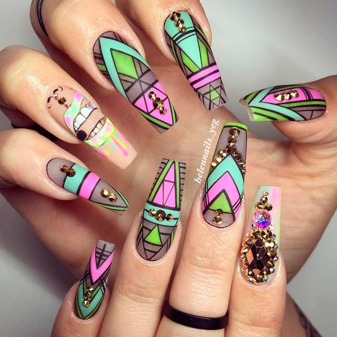 Trendy Designs for Long Nails picture 2 - Brilliant Long Nail Designs To Try NailDesignsJournal.com