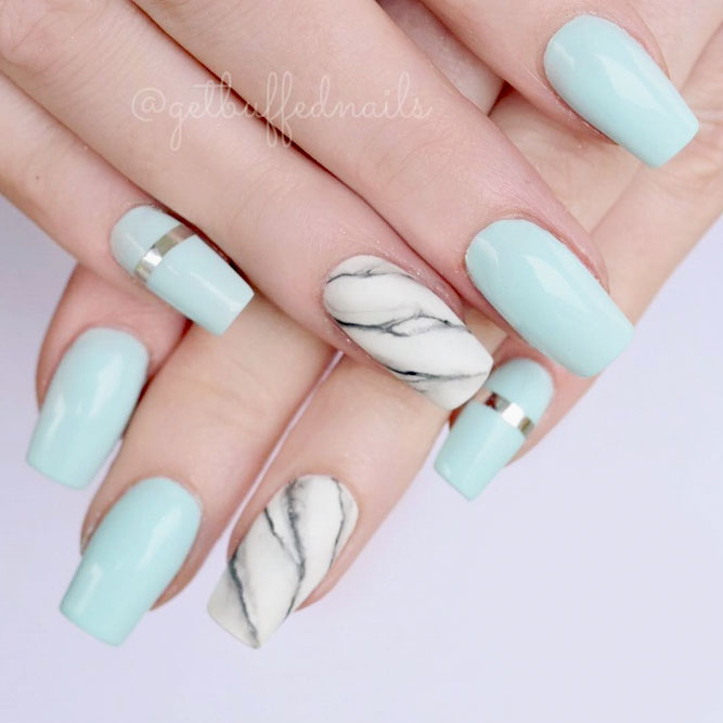 Marble Nails To Be On The Top picture 3