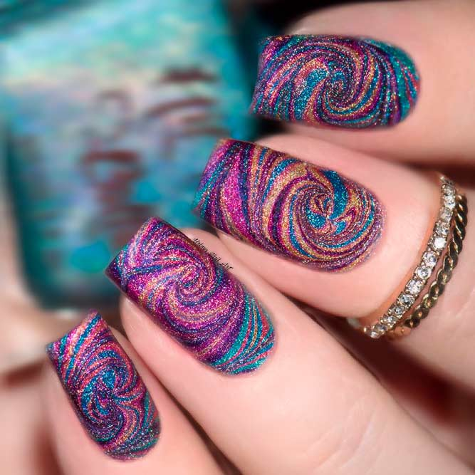 Long Square Nail Art picture 2