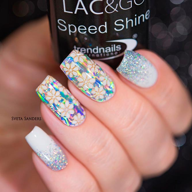 Long Square Nail Designs with Glitter picture 2