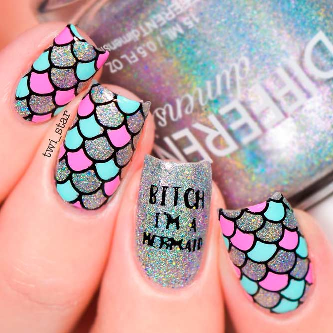 Long Square Nail Designs with Glitter picture 1