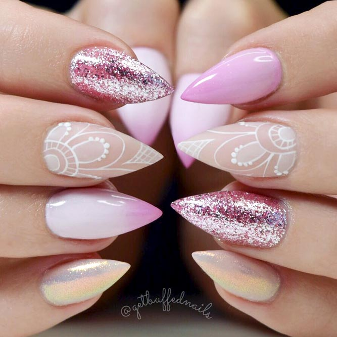 Fabulous Laced Long Nails picture 2