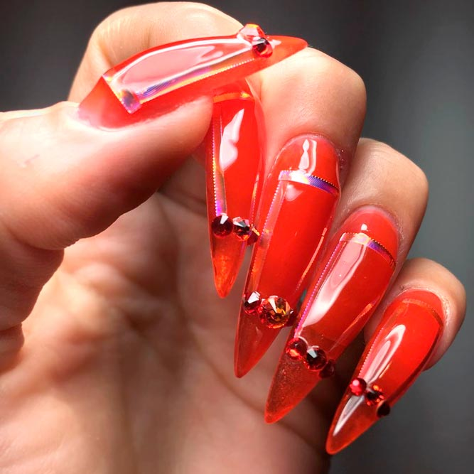 Nail Designs for Long Stiletto Nails picture 1