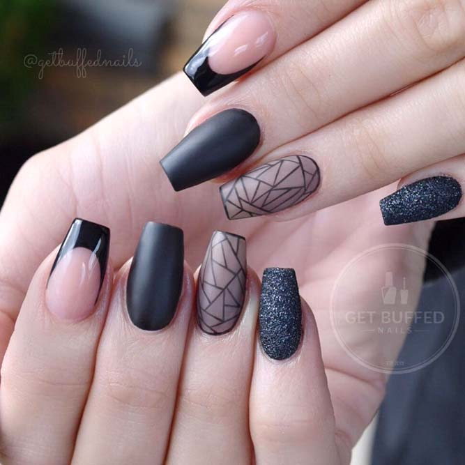 Geometric Nail Design For Stylish Geeks picture1