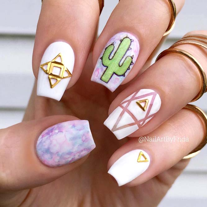Geometric Nail Design For Stylish Geeks picture2