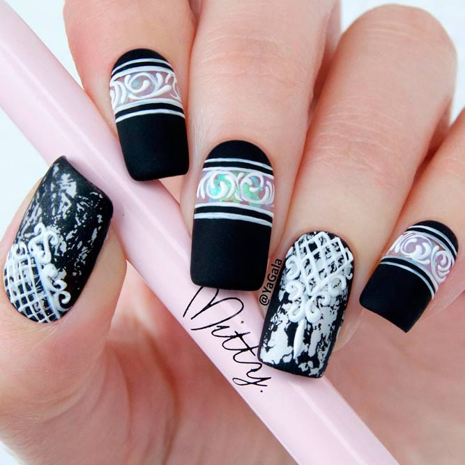 Beautiful Black and White Nail Art picture 1