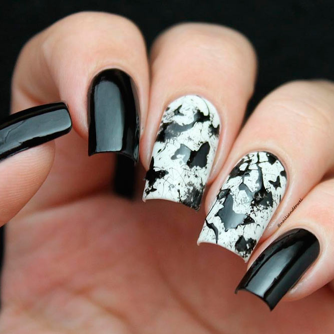 Sassy Designs for Black and White Nails picture 1