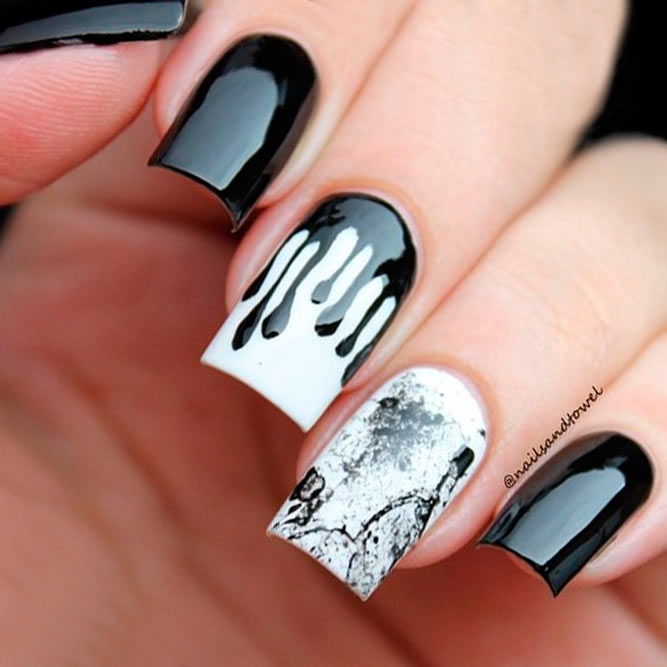 Sassy Designs for Black and White Nails picture 2