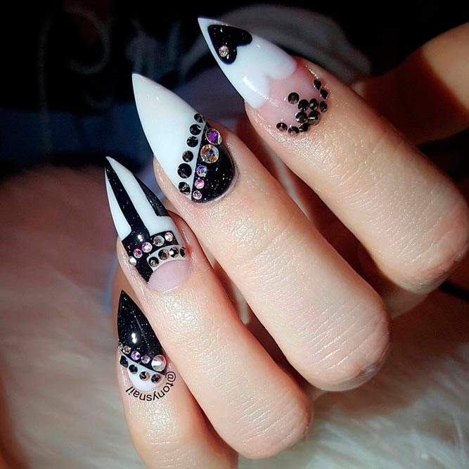 Trendy Black and White French Mani picture 2