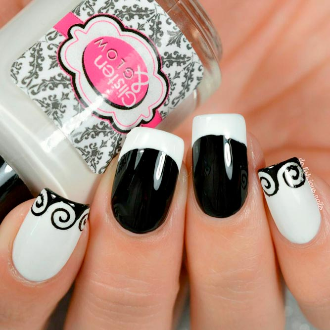 Trendy Black and White French Mani picture 3