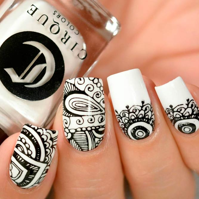Beautiful Black and White Nail Art picture 2