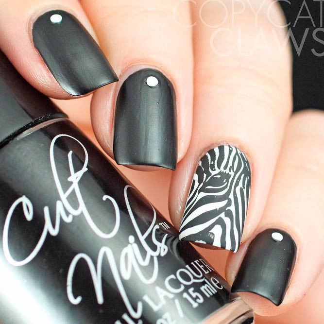 Nice White and Black Nail Designs picture 2