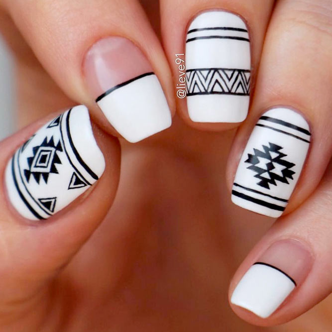 Nice White and Black Nail Designs picture 3