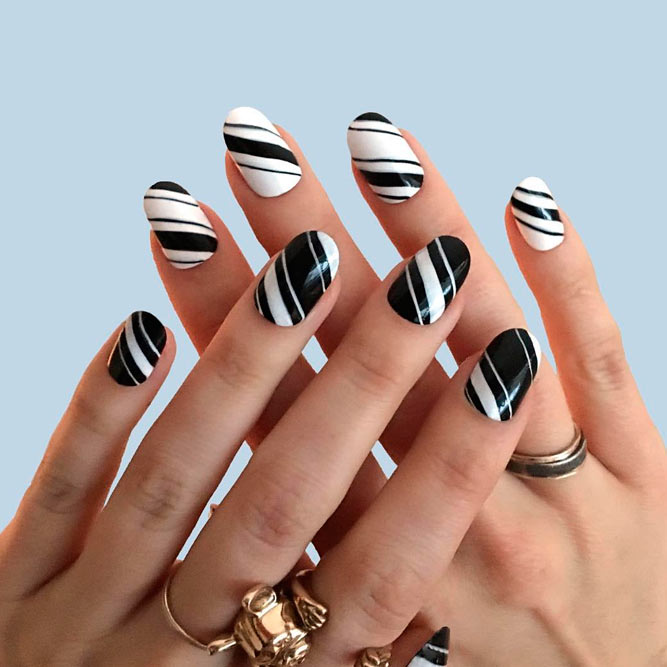 Easy and Cute Black and White Nails Ideas picture 1